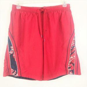 Speedo Board Shorts Medium Red Navy